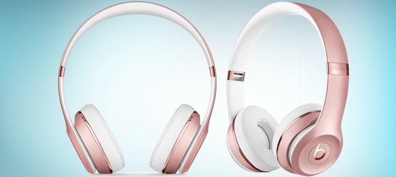 beats rose gold wireless headphones