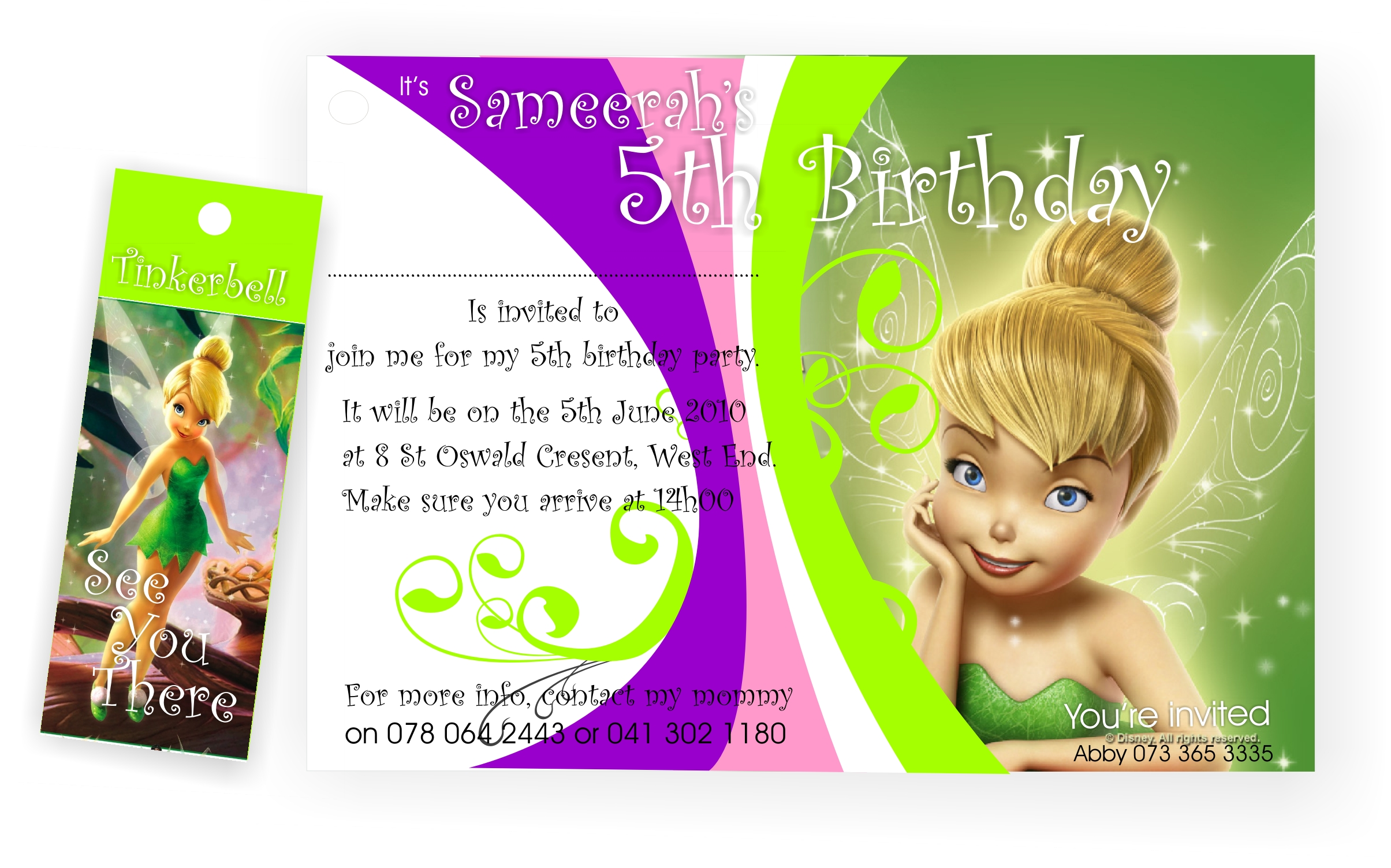 5th birthday invitation card template