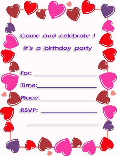 10th birthday invitation templates free