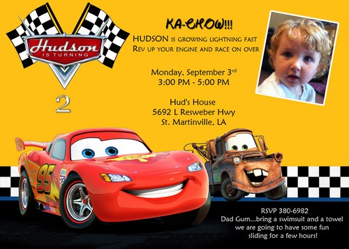 birthday invitation card template cars