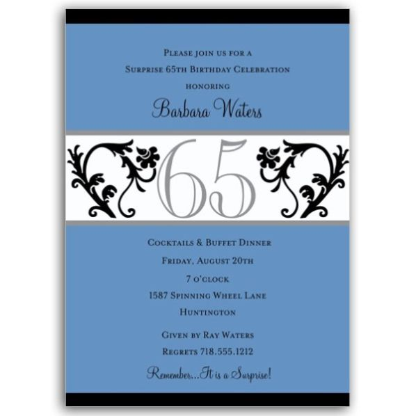 65th birthday invitation verses best