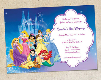 disney birthday invitation templates