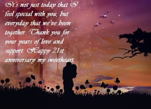 Happy 21st Anniversary Wishes For Wife