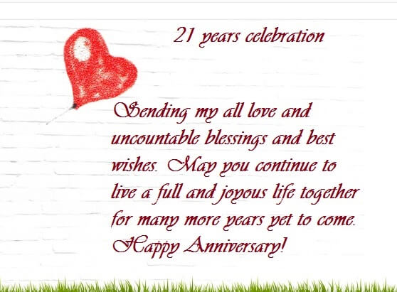 21 Years Marriage Anniversary Quotes