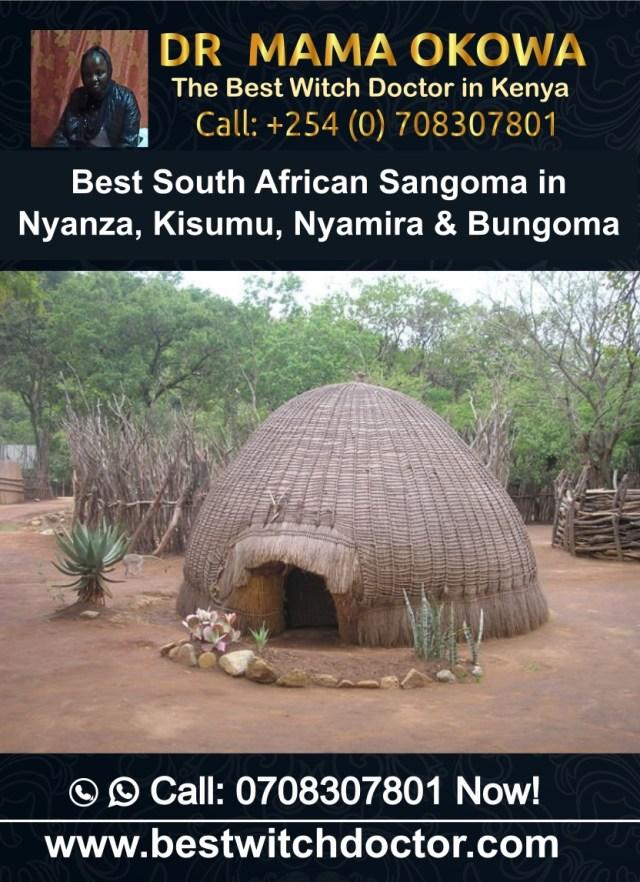 Best South African Sangoma in Nyanza, Kisumu, Nyamira and Bungoma