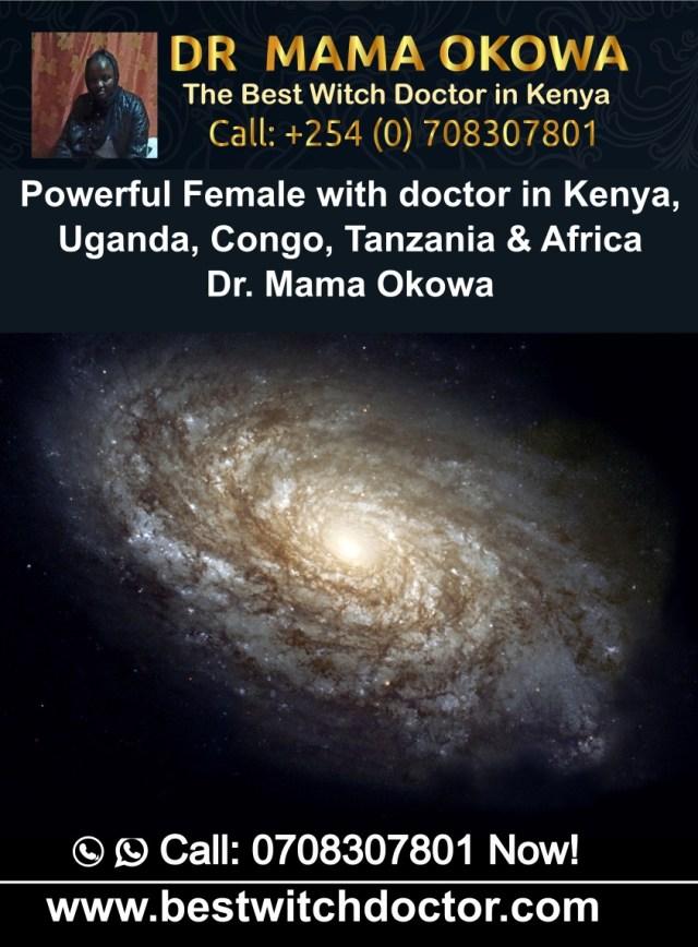 Powerful Female with doctor in Kenya, Uganda, Congo, Tanzania & Africa Dr. Mama Okowa