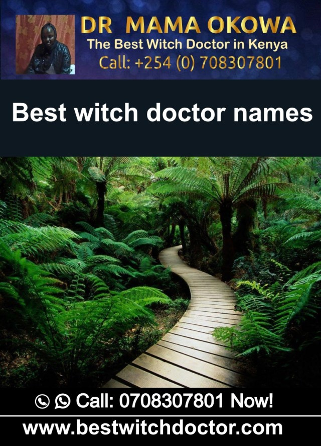 Best witch doctor names