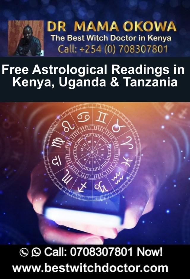 Free Astrological Readings in Kenya, Uganda and Tanzania
