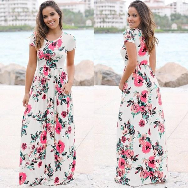 Maxi Dress Boho Beach Dress