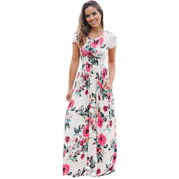 Short Sleeve Loose Maxi Dresses