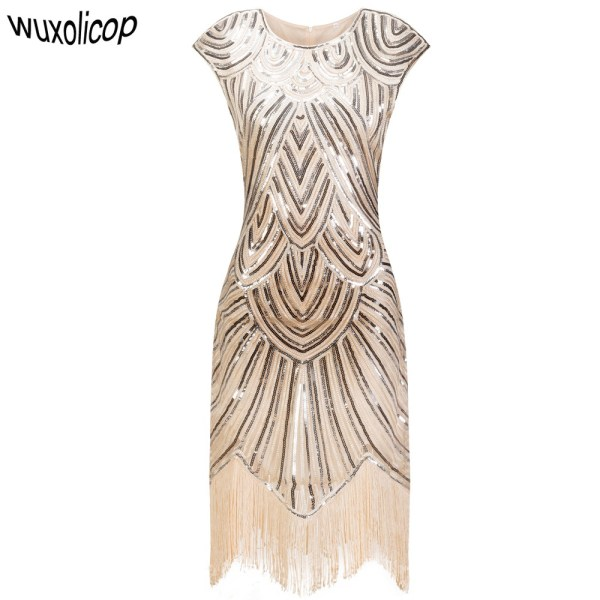 Flapper Gatsby Dresses Fringe Party Midi Dress