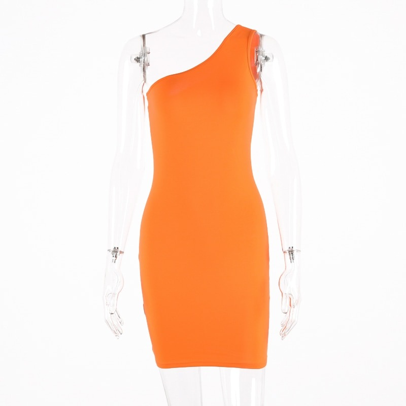 Slim Solid Dress Summer Women Sexy Party Dresses
