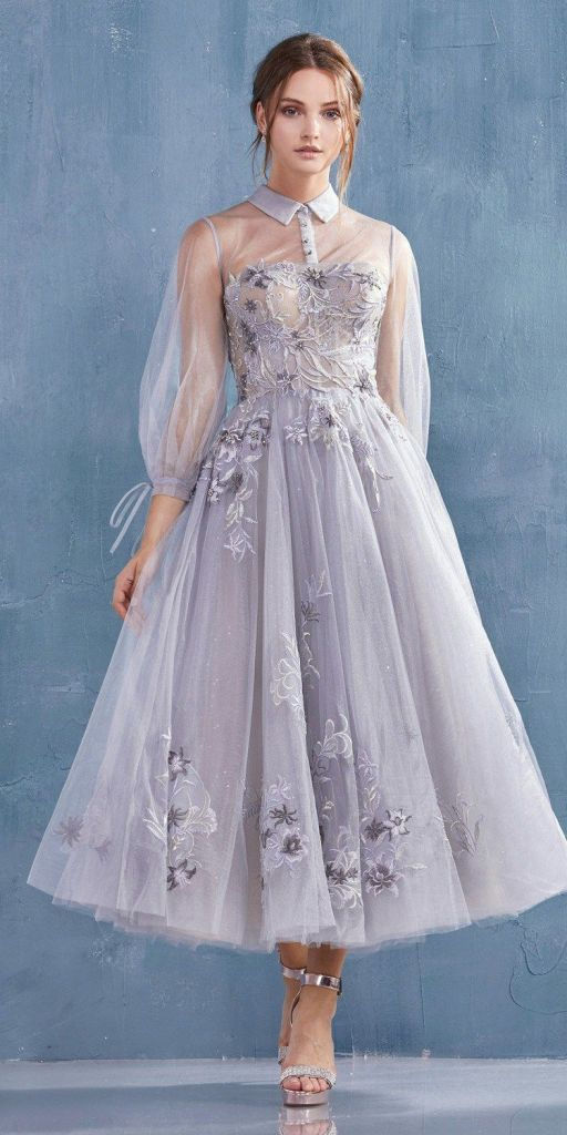 Beautiful Wedding Tea Length Dresses