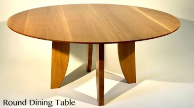 Build a Round Dining Table