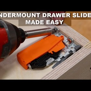 Easy to Make DIY Drawers & Install Blum Undermount  Drawer Slides