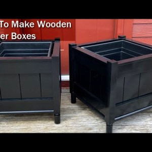 How To Build a Classic Wooden Planter Box