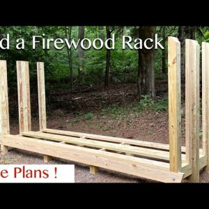 How To Build a Double Deep Firewood Storage Rack - Free Plans