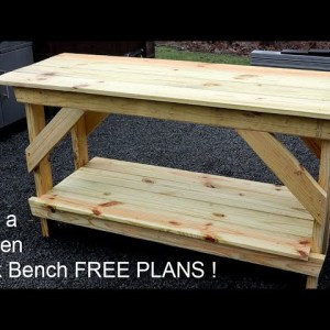 How to Build a Garden Work Bench - Free Plans
