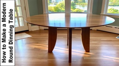How To Make a Modern Round Dining Table