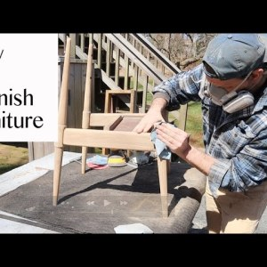 How to Refinish and Restore a Mid Century Modern Chair