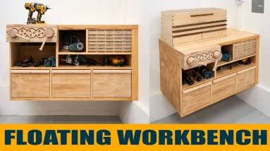 Making a Floating Workbench from Scrap and Recycled Plywood