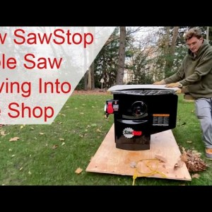 New SawStop Table Saw - Shop Upgrade Update