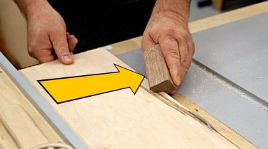 Table Saw Basics - Make a Push Stick You Can Wear