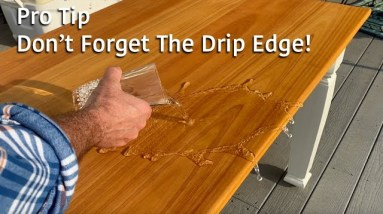 Table Top Quick Tip - Ad a Drip Edge to Outdoor Table Tops