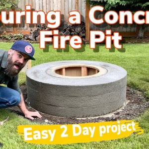 Making a Concrete Fire Pit the Right Way || Ultimate Fire Pit Build