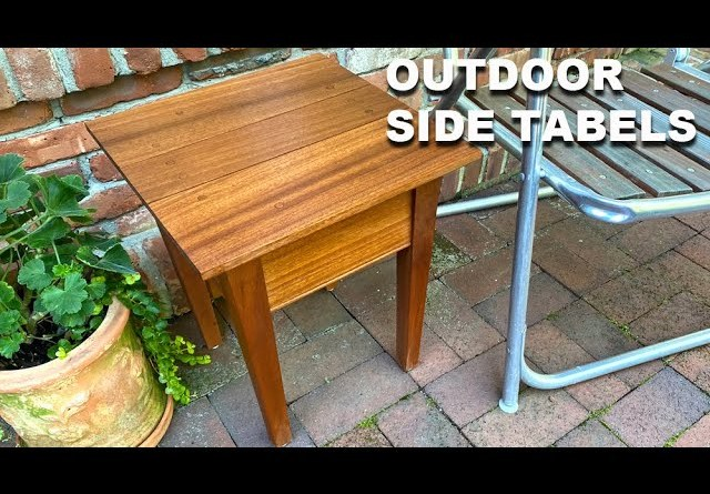 How to Make Outdoor side Tables - Beginner Woodworking Project