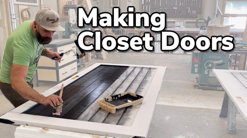 Easy Closet Doors || You Can Make These