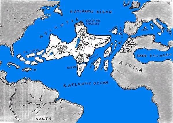Karte von Atlantis