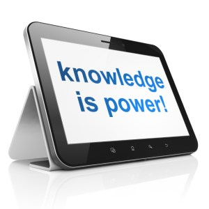 Education concept: Knowledge Is power! on tablet pc computer
