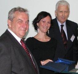 Chikán Attila, Bali Gabriella és Kemendy Nándor a díjátadás után