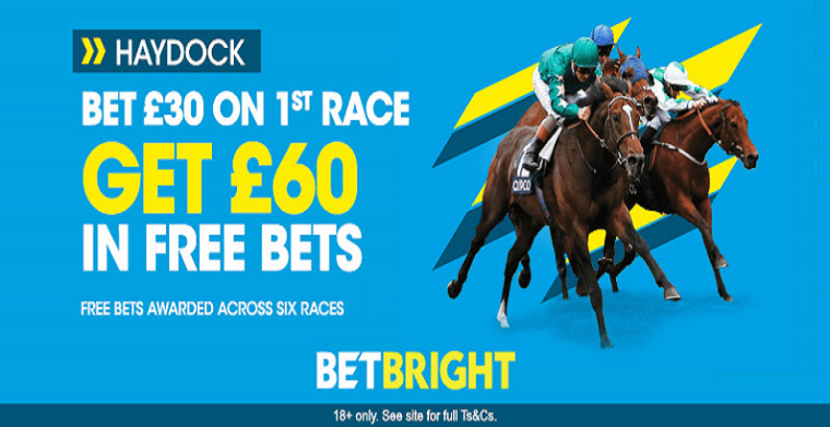 Saturday Horse Racing Offer - Get £60 In Free Bets for Haydock