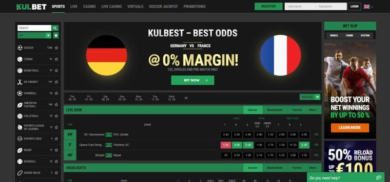 Kulbet Home page