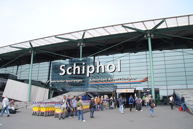 Entrée de l'aéroport d'Amsterdam Schiphol