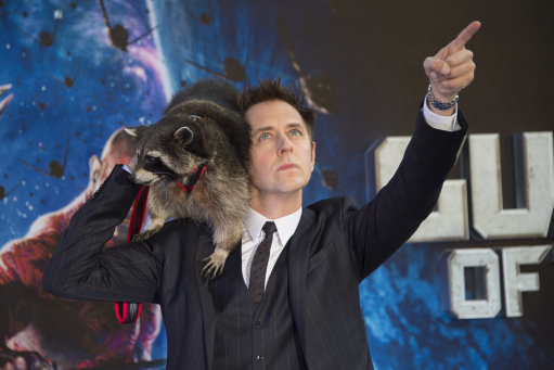 James Gunn attended the premiere of Guardians Of The Galaxy at the Empire London cinema with Oreo. Credit: PA