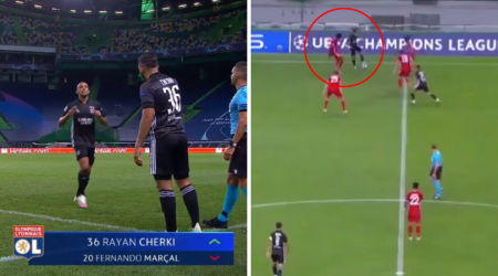17-Year-Old Rayan Cherki Announces Himself To The World By Turning Alphonso  Davies With Ease - SPORTbible