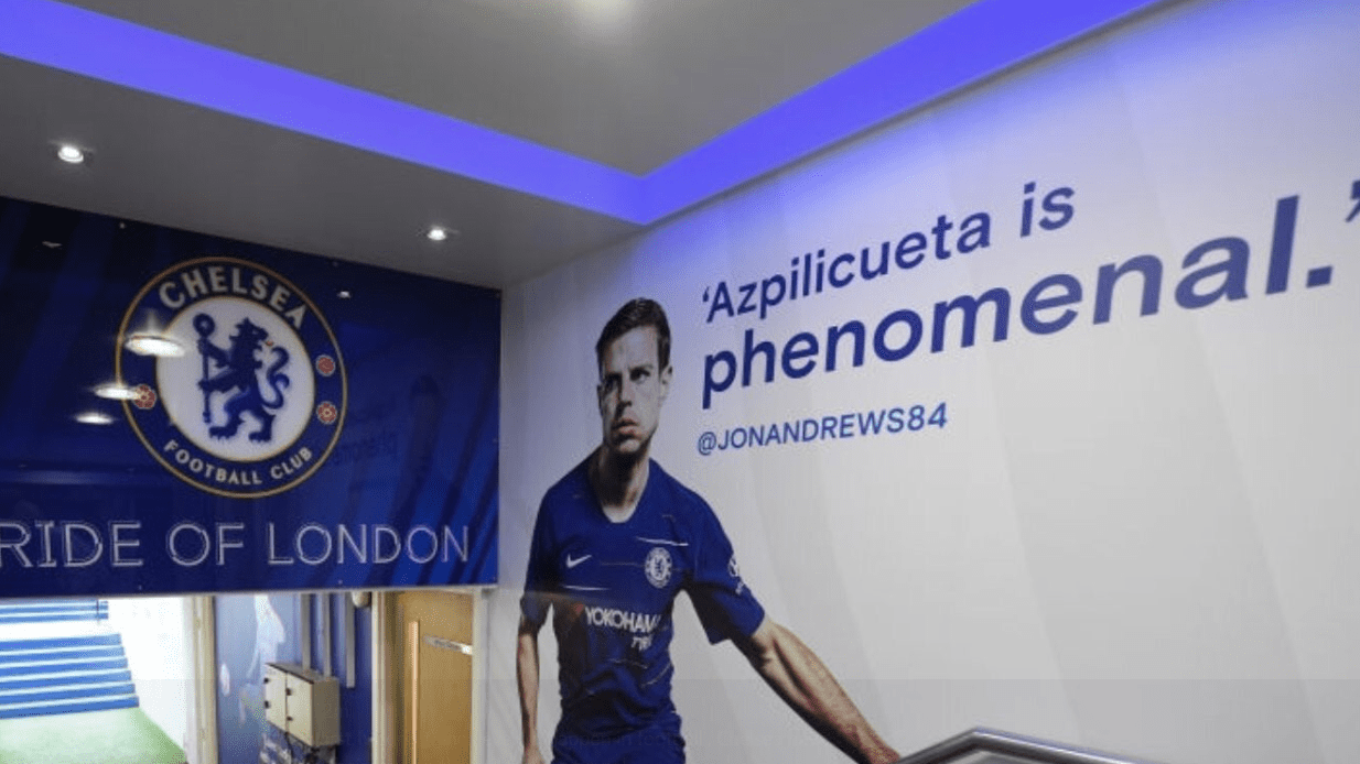 Chelsea Have Motivational Tweets From Fans On Walls Of Stamford Bridge Tunnel