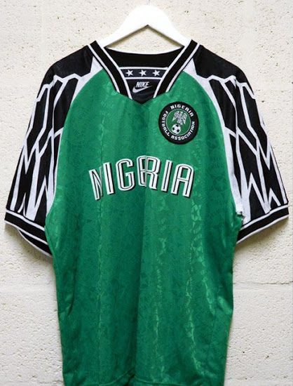 Nigeria's shirt back in the day. Image: PA