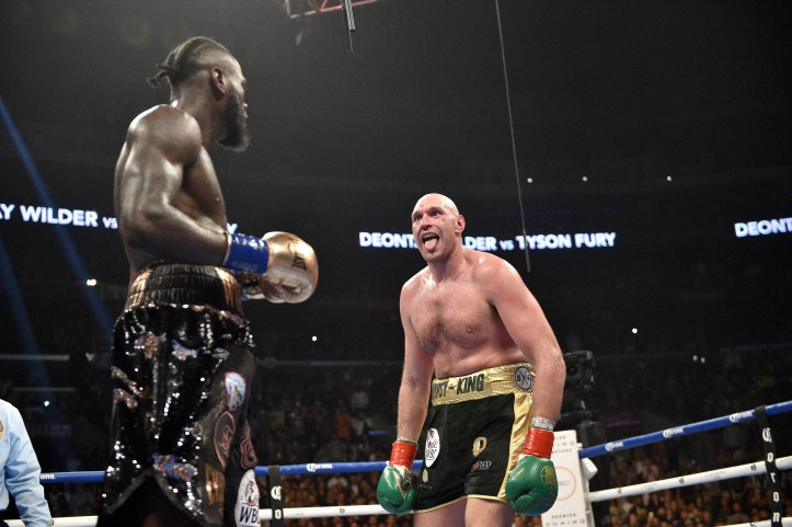 Fury had time to show off during the fight. Image: PA Images