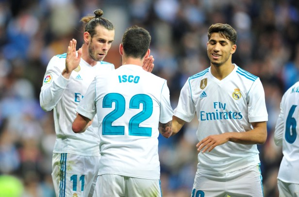 Bale and Isco could both leave this summer. Image: PA Images