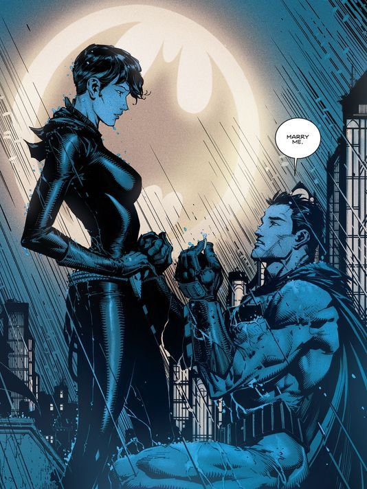 Following Batman's proposal to Cartwoman last year, we can look forward to a wedding this summer. Credit: DC Comics