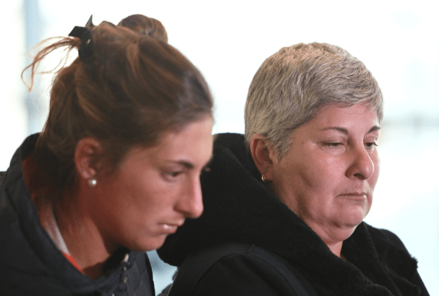 Emiliano Sala's sister Romina (left) and mother Mercedes. Credit: PA