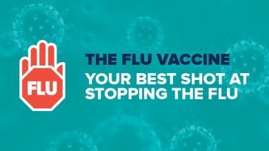Flu vaccination. Your best shot at stopping the flu.