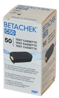 BETACHEK® C50 test cassette