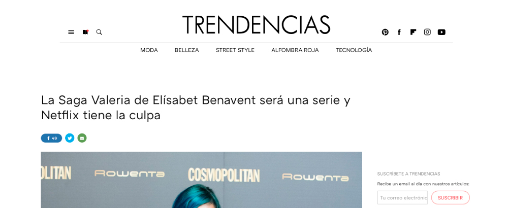La Saga Valeria de Elísabet Benavent será una serie y Netflix tiene la culpa