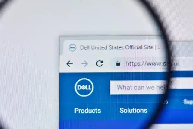 Dell website logo