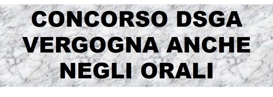 Concorso DSGA: diritti negati!!